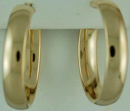 Ladies Medium Hoop Earrings