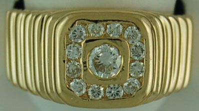 Gentleman's 5/8ctw Diamond Rolli Ring