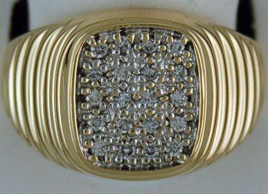 Gentleman's 1/3ctw Diamond Roli Ring