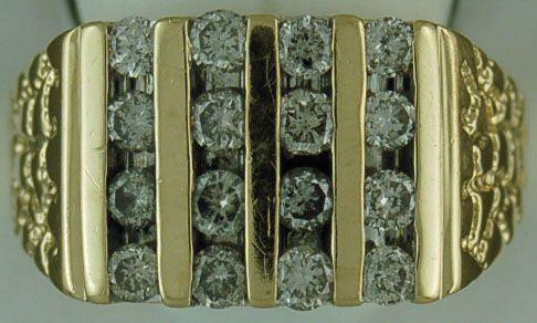 Gentleman's 1-3/4ctw Diamond Nugget Ring