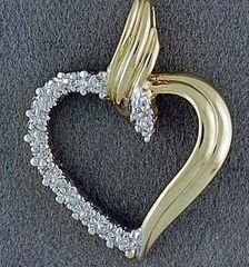 1/20ctw Diamond Heart Pendant
