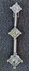 Ladies 1/3ctw Diamond Drop Pendant