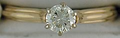 1/2ct Roud Cut Diamonds Solitaire Ring