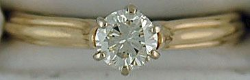 1/2ct Roud Cut Diamonds Solitaire Ring