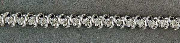 Ladies 1ctw Diamond Tennis Bracelet
