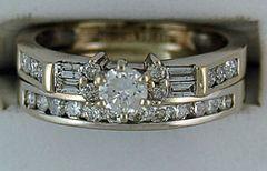 Ladies 1ctw Diamond Wedding and Engagement Set