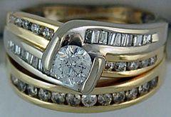 Ladies 1ctw Wedding and Engagement Set