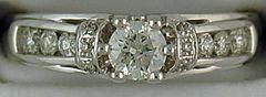 Ladies 3/4ctw Diamond Engagement Ring