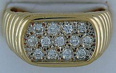 1/2ctw Gentleman's Diamond Ring