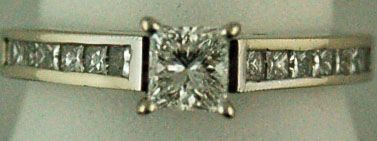 Ladies Princess Cut Diamond Engagement Ring