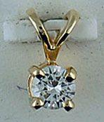 1/5ct Diamond Solitaire Pendant