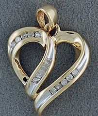 1/6ctw Diamond Heart Pendant