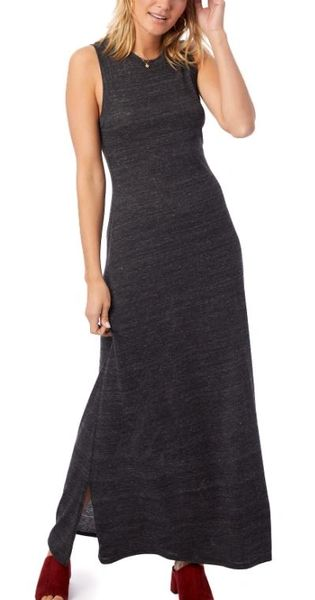 Eco-Jersey Side Slit Maxi Tank Dress