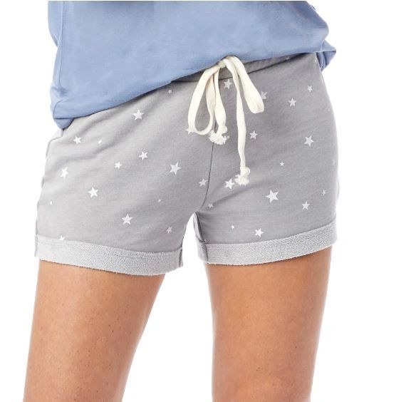 Cozy Burnout French Terry Printed Shorts