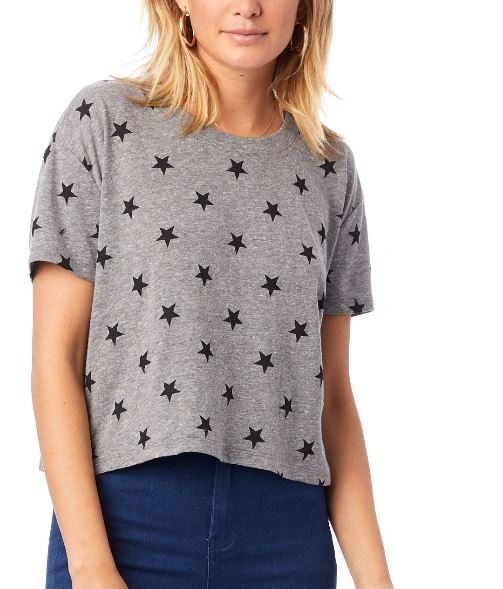 Headliner Printed Eco Jersey Crop Top