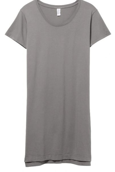 Legacy Garment Dyed T-shirt Dress- Concrete