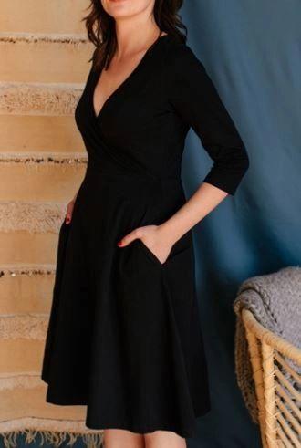 Callie Wrap Dress- Black