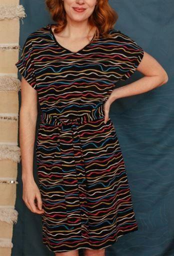 Montrose Midi Dress Wobbly Stripe