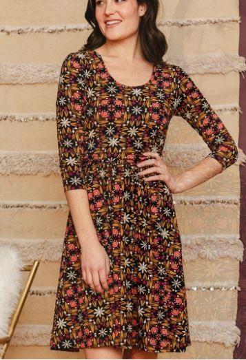 Novela Dress Mauve Tile Sizes XS-2XL