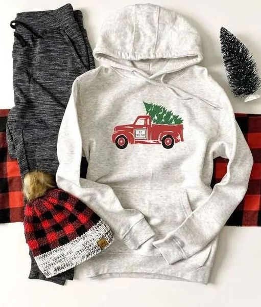 Christmas Truck French Terry Hoodie