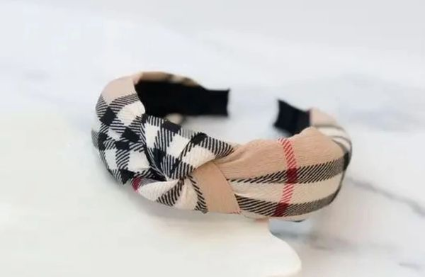 Top Knot Plaid Headband (Free with a $200 purchase- no code required)