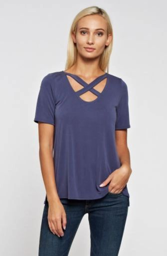 A Redefined Courage Item- Jac Criss Cross Top