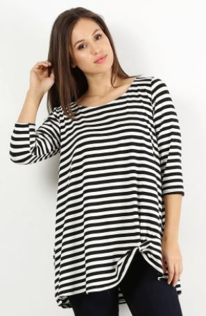 A Redefined Courage Item- Laurel Stripe Top- Sizes S-3XL
