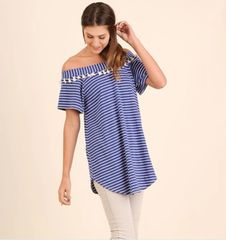 Willow Off the Shoulder Tassel Tunic