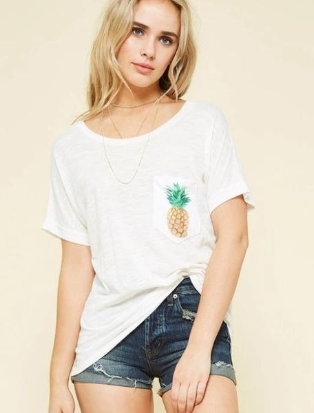 A Redefined Courage Item- Oversized Tahiti Pineapple Tee