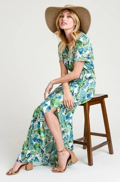 A Redefined Courage Item- Brie Botanical Palm Dress