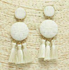 Accessory- Croix Tassel Earrings