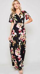 Zuna Celene Floral Maxi Dress