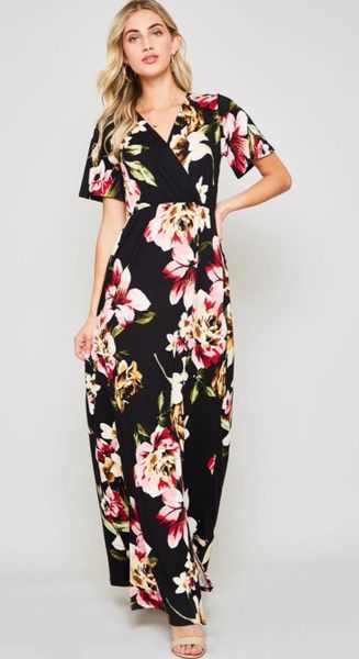 A Redefined Courage Item- Celene Floral Maxi Dress