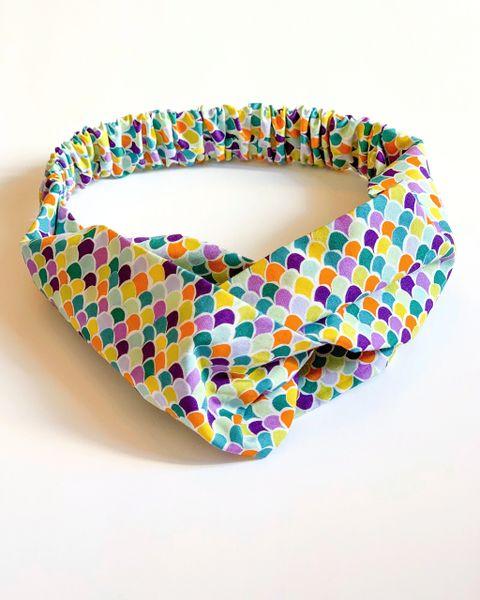 Camille Elastic Headband- Scales