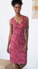 Apparel- Delilah Wrap Dress Rose