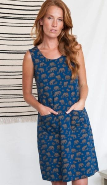 Apparel- Lisbon Shift Dress Elephants