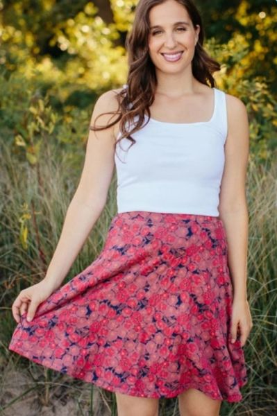 Carmella Swing Skirt Rose