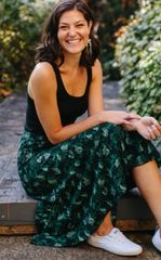 Apparel- Simone Midi Skirt Voyager