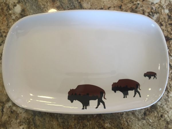 Limited Edition Roaming Buffalo Dinner Platter