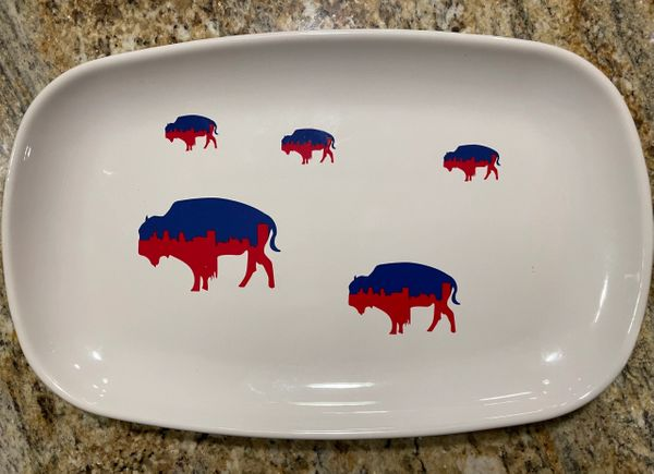Very Limited Edition Playoff Inspired Roaming Buffalo Dinner Platter