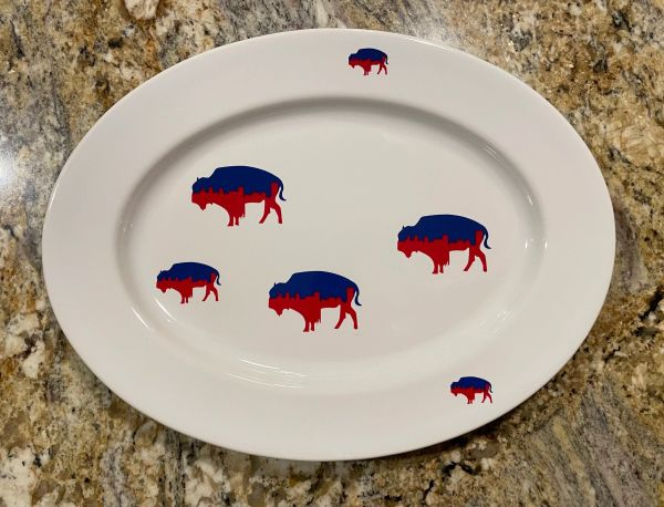 Very Limited Edition Playoff Inspired Roaming Buffalo Serving Platter