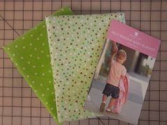 K - Baby Blanket Kit, Flannel Green Polka Dots