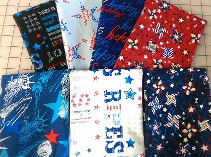 B-Patriotic Half Yard Bundle #2