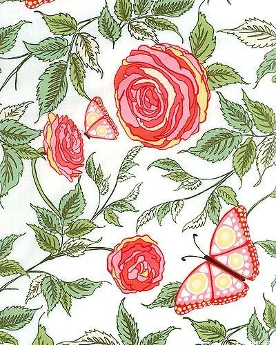 F - Roo Roses & Butterflies, Pink