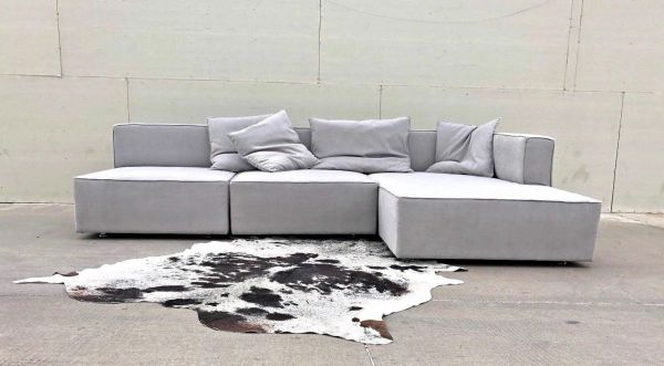 Strålende Bella Lounge Lux Soho 3 Pc Sofa- Beautiful soft light grey sofa FI-48