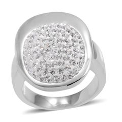 Austrian Crystal Ring in Stainless Steel (Size 6) A 10270