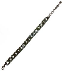 Lobster Clasp Closure Military Look. 8.5 inches + 2.5 inches extension