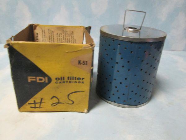 K51 FDI HEAVY DUTY OIL FILTER NEW 1942-1962 BUICK CADILLAC OLDSMOBILE CHEVROLET