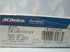 18P265 18033183 AC DELCO BRAKE CABLE NEW