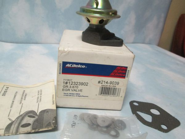 214-9039 AC DELCO EGR VALVE DODGE DIPLOMAT RAMCHARGER NEW